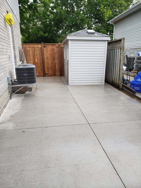 backyard concrete outdoor flooring